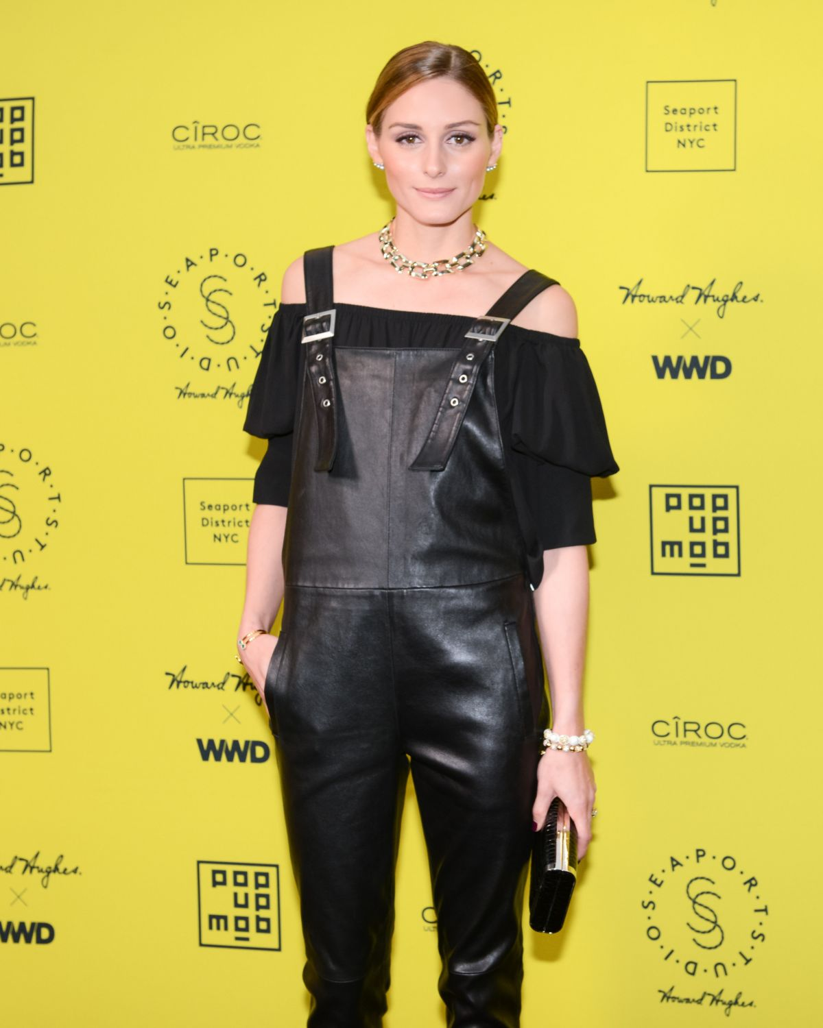OLIVIA PALERMO at Seaport Studios Opening in New York