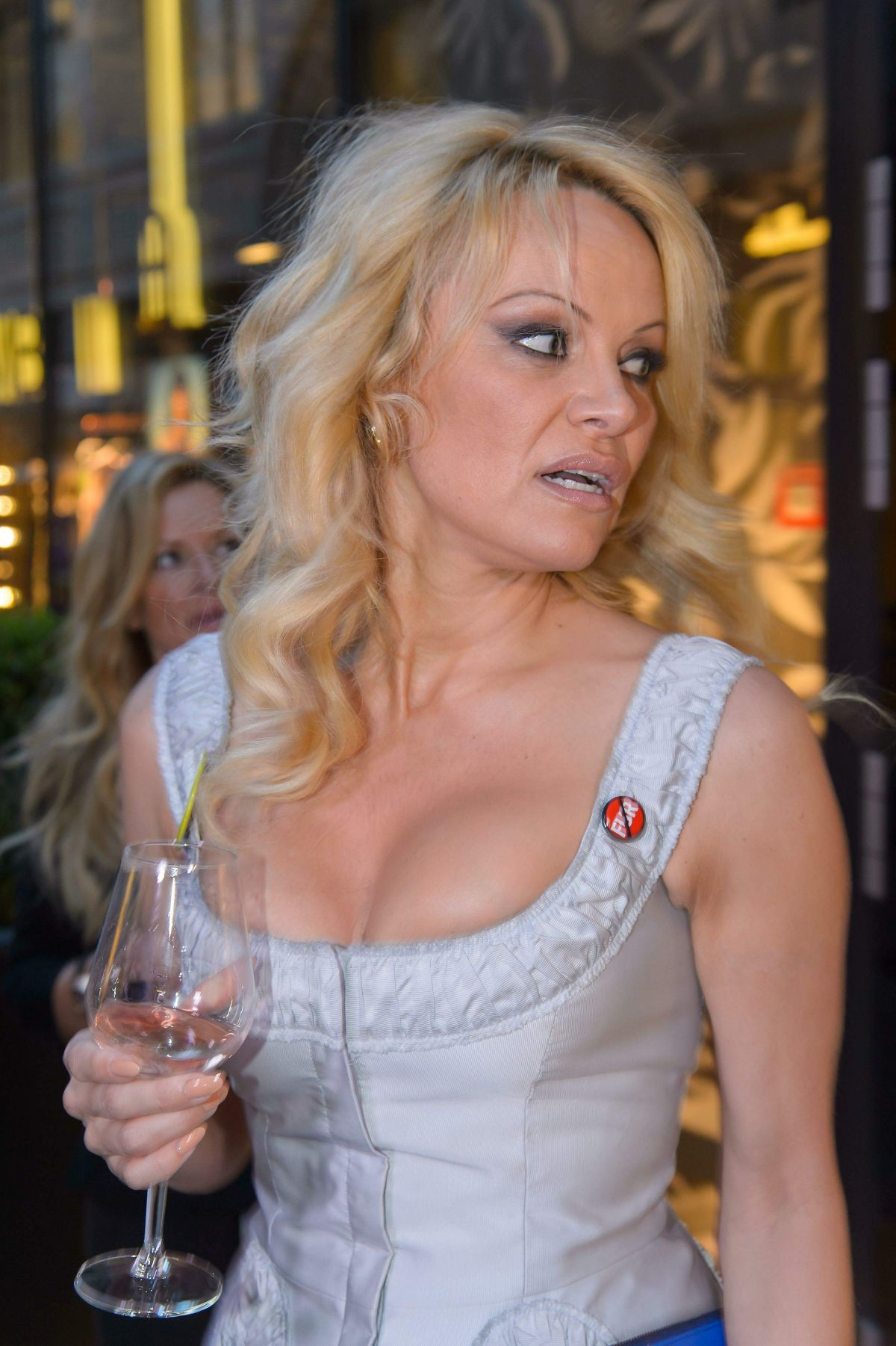 PAMELA ANDERSON at Fur Fur Fashion Show in Vienna - HawtCelebs ...