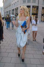 PAMELA ANDERSON at Fur Fur Fashion Show in Vienna
