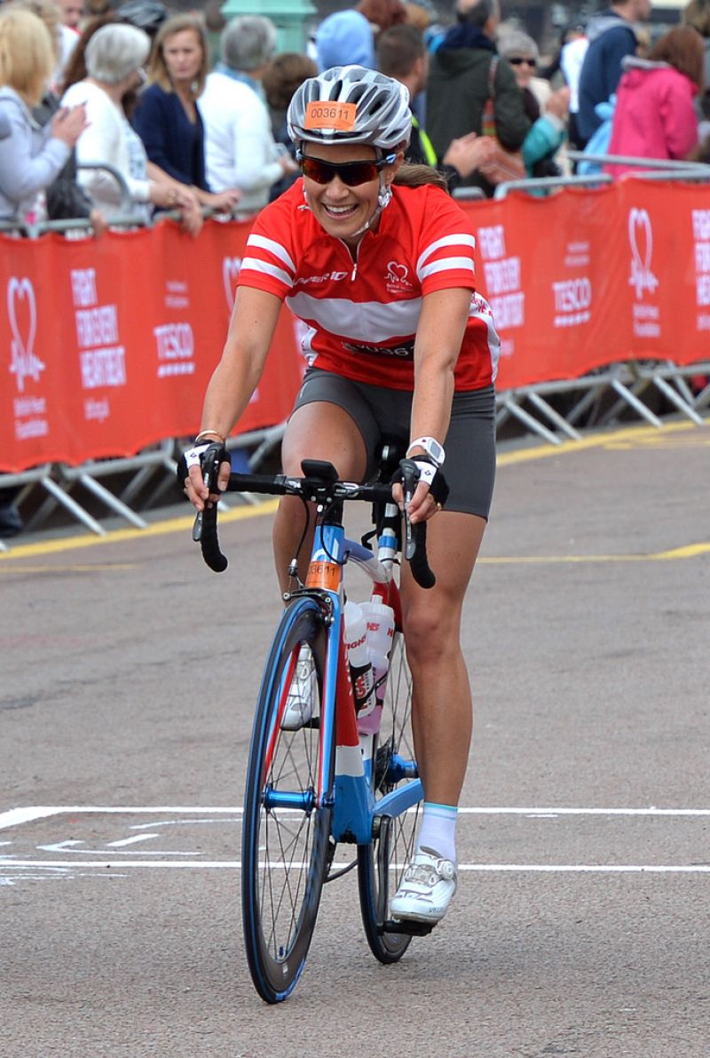 PIPPA MIDDLETON at London to Brighton Bike Ride for British Heart Foundation
