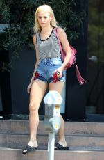 PIXIE LOTT in Jeans Shorts Out and About in Los Angeles 06/17/2015