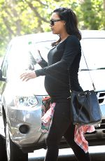 Pregnant NAYA RIVERA Out and About in Los Angeles 06/05/2015