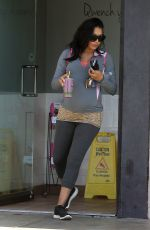 Pregnant NAYA RIVERA Out and About in Los Angeles 06/19/2015