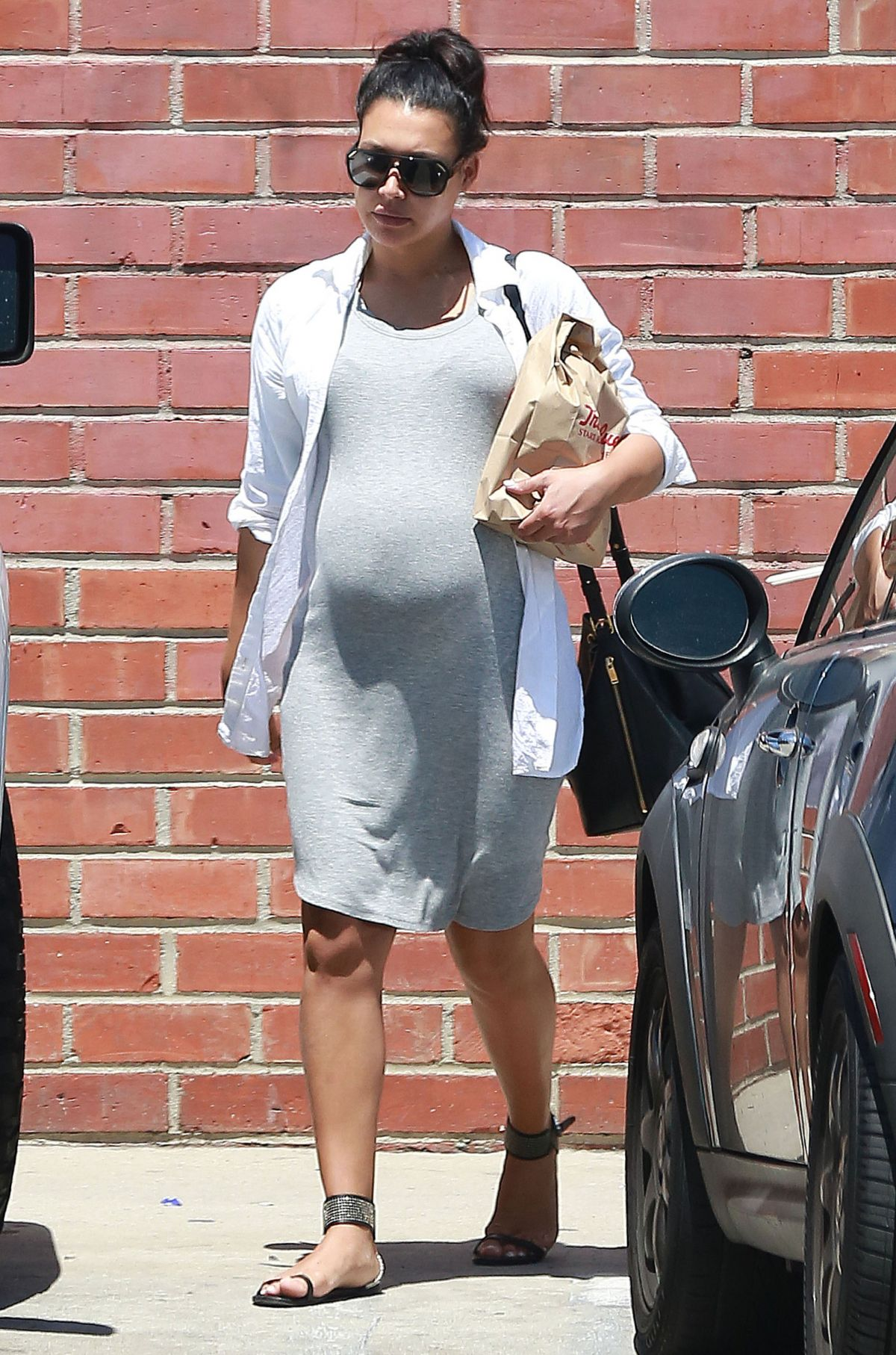Pregnant NAYA RIVERA Out Shopping in Los Angeles 06/20/2015