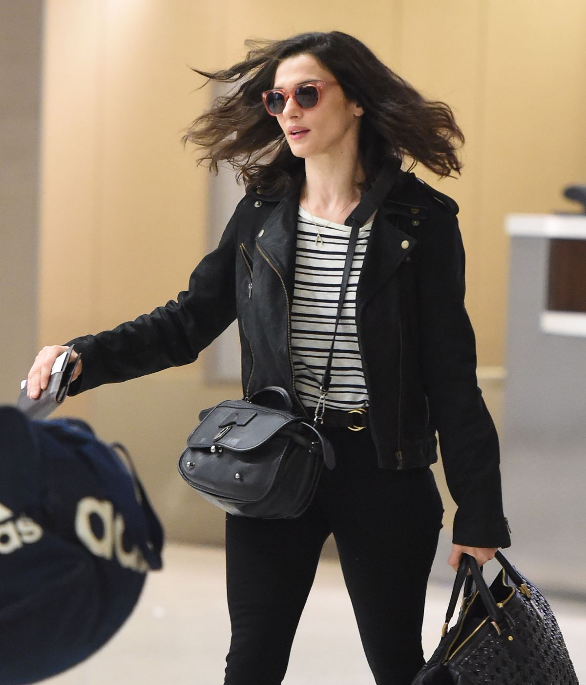 RACHEL WEISZ Arrives at JFK Airport in New York 05/31/2015