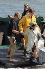 RACHEL WISZ on the Set of Donald Crowhurst Story in Teignmouth 06/03/2015