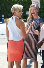 REBECCA ROMIJN on the Set of Extra in Universal City
