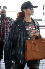 RIHANNA Arrives at Los Angeles International Airport 06/14/2015