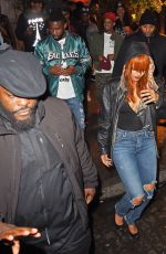 RIHANNA Out for Dinner in New York 06/01/2015