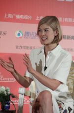 ROSAMUND PIKE at Gone Girl Press Conference in Shanghai