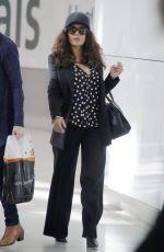 SALMA HAYEK Arrives at Heathrow Airport in London 06/24/2015