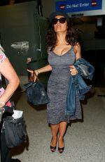 SALMA HAYEK Arrives at Los Angeles International Airport 06/06/2015