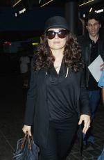 SALMA HAYEK Arrives at Los Angeles International Airport 06/23/2015