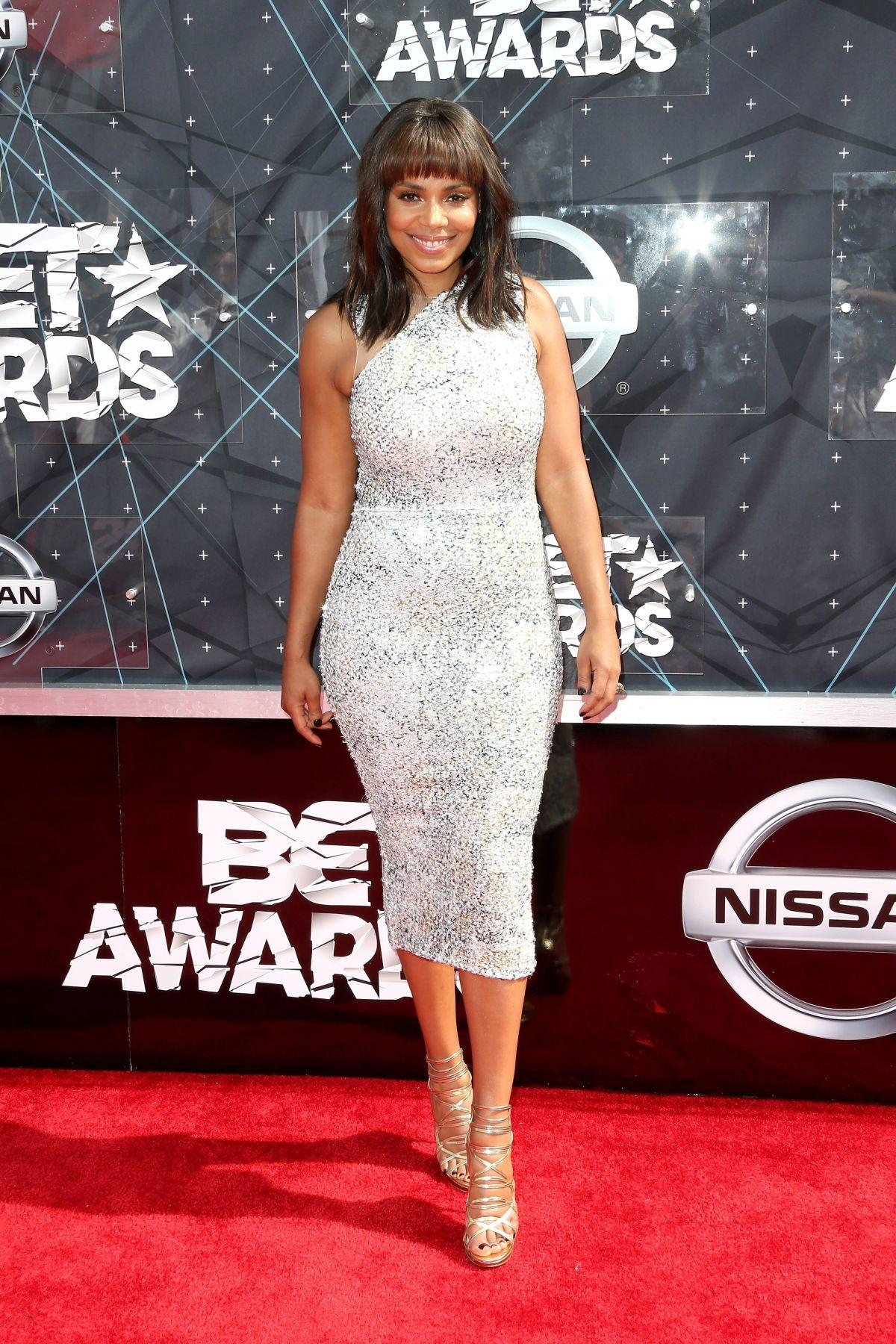 SANAA LATHAN at 2015 BET Awards in Los Angeles