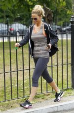 SARAH HARDING Leaves a Gym in North London 06/12/2015