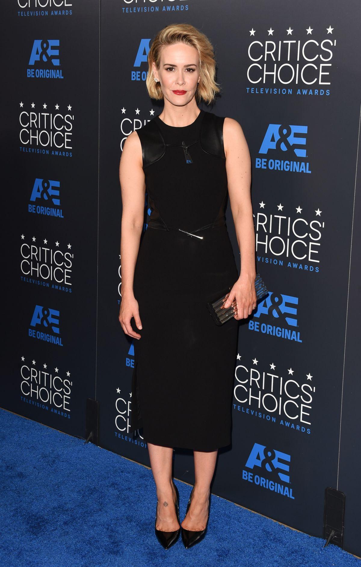 SARAH PAULSON at 5th Annual Critics Choice Television Awards in Beverly Hills