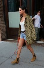 SELENA GOMEZ in Jeans Shorts Out in New York 06/23/2015