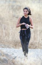 SELENA GOMEZ in Tights Out Hiking in Hollywood Hills 06/26/2015