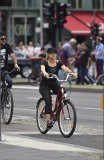 SHAKIRA Riding a Bike Out in Berlin 06/06/2015