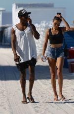 SHANINA SHAIK in Bikini at a Beach in Miami 06/16/2015