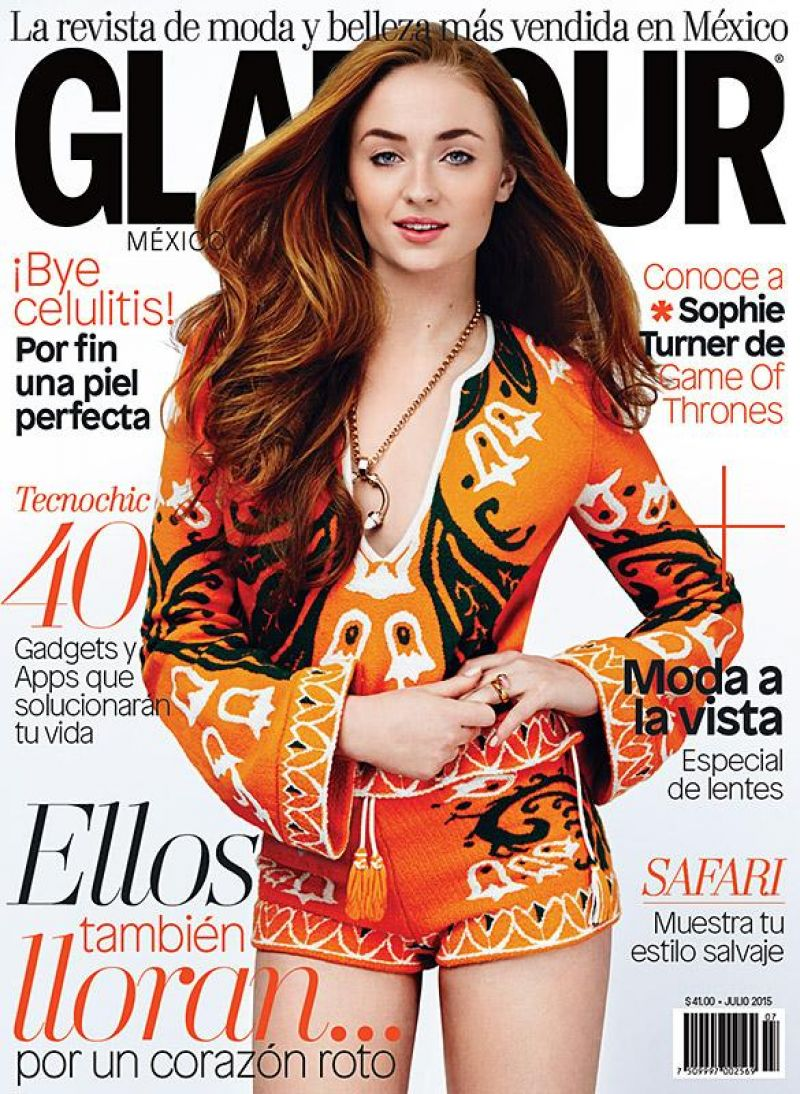 SOPHIE TURNER in Glamour Magazine, Mexico June 2015 Issue