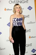 TAYLOR SCHILLING at The Overnight Premiere in New York