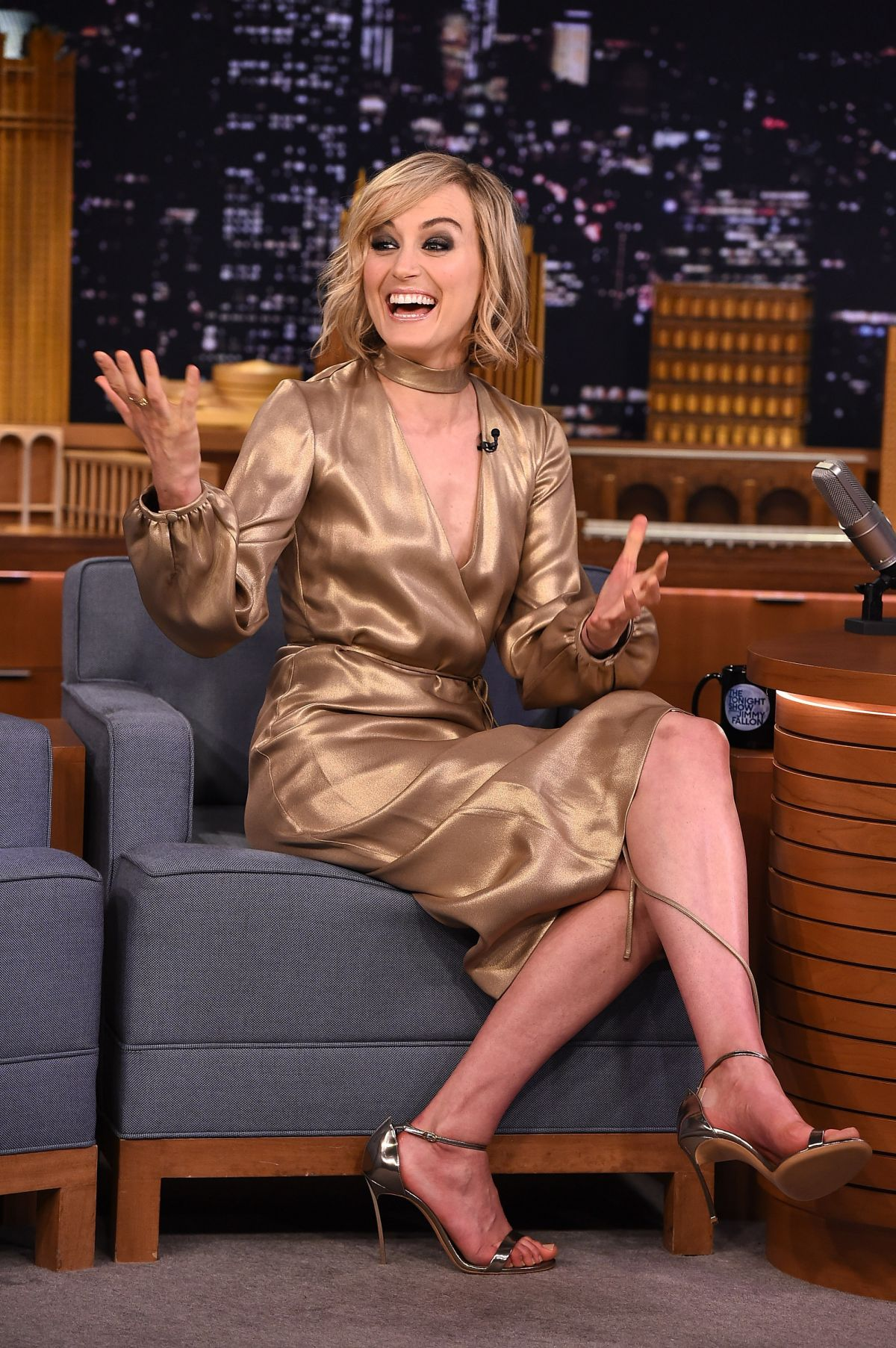 TAYLOR SCHILLING at Tonight Show Starring Jimmy Fallon in New York 06/15/2015