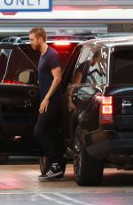 TAYLOR SWIFT and Calvin hHarris at Soho House in Hollywood 06/14/2015