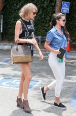 TAYLOR SWIFT and SELENA GOMEZ Out and About in Los Angeles 06/16/2015