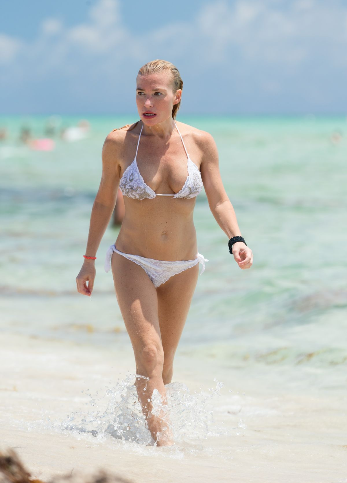 TRACY ANDERSON on Bkini at a Beach in Miami 06/08/2015