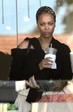TYRA BANKS Out and About in Los Angeles 06/15/2015