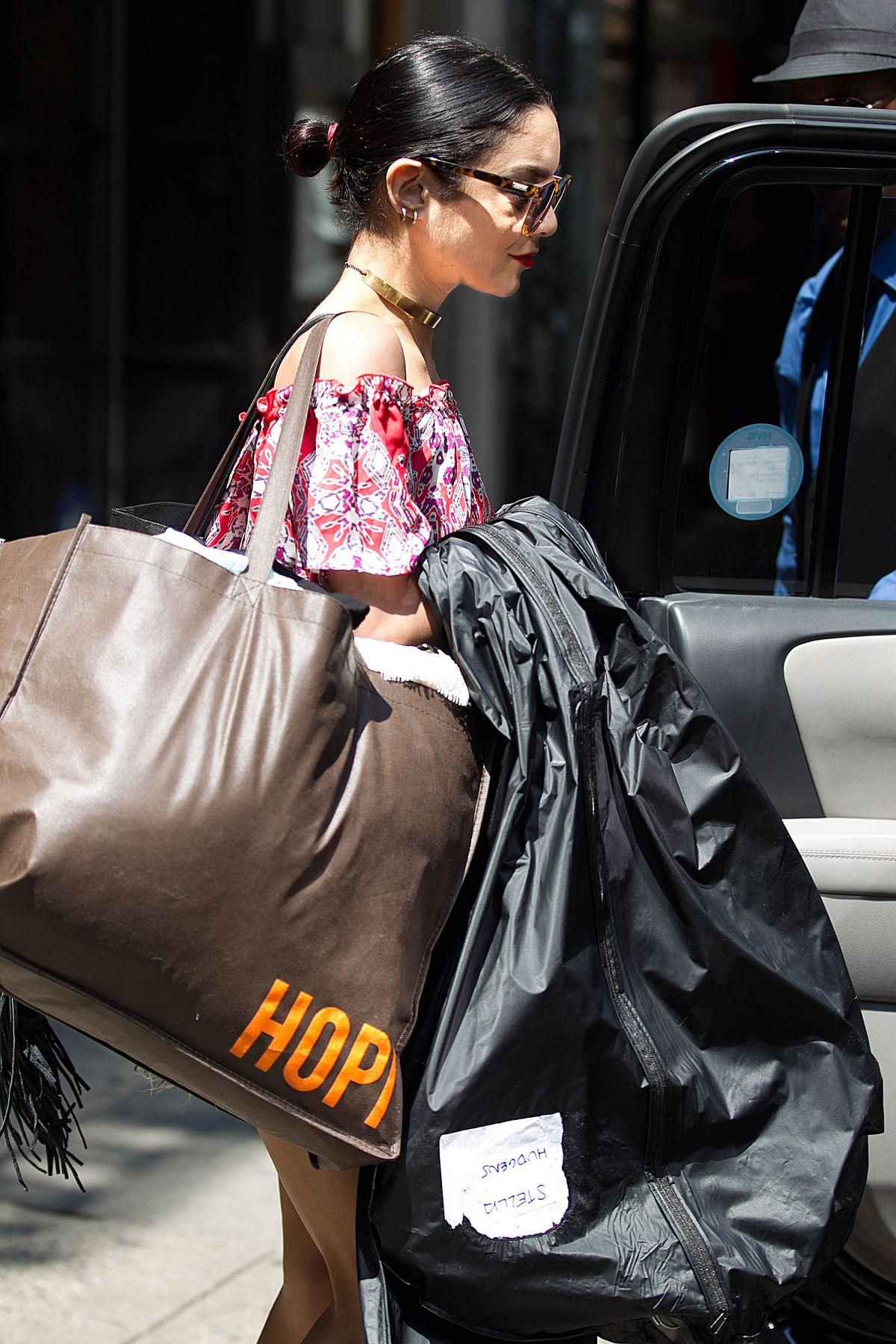 VANESSA HUDGENS Leaves Her Apartment in New York 06/10/2015