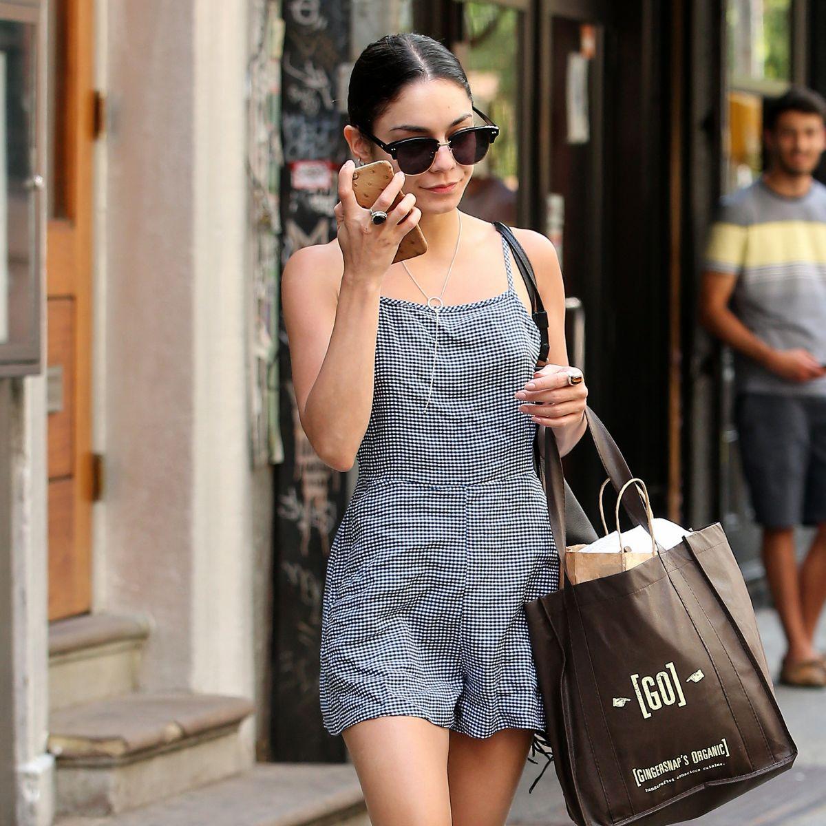 VANESSA HUDGENS Leaves Her Apartment in Soho 06/11/2015