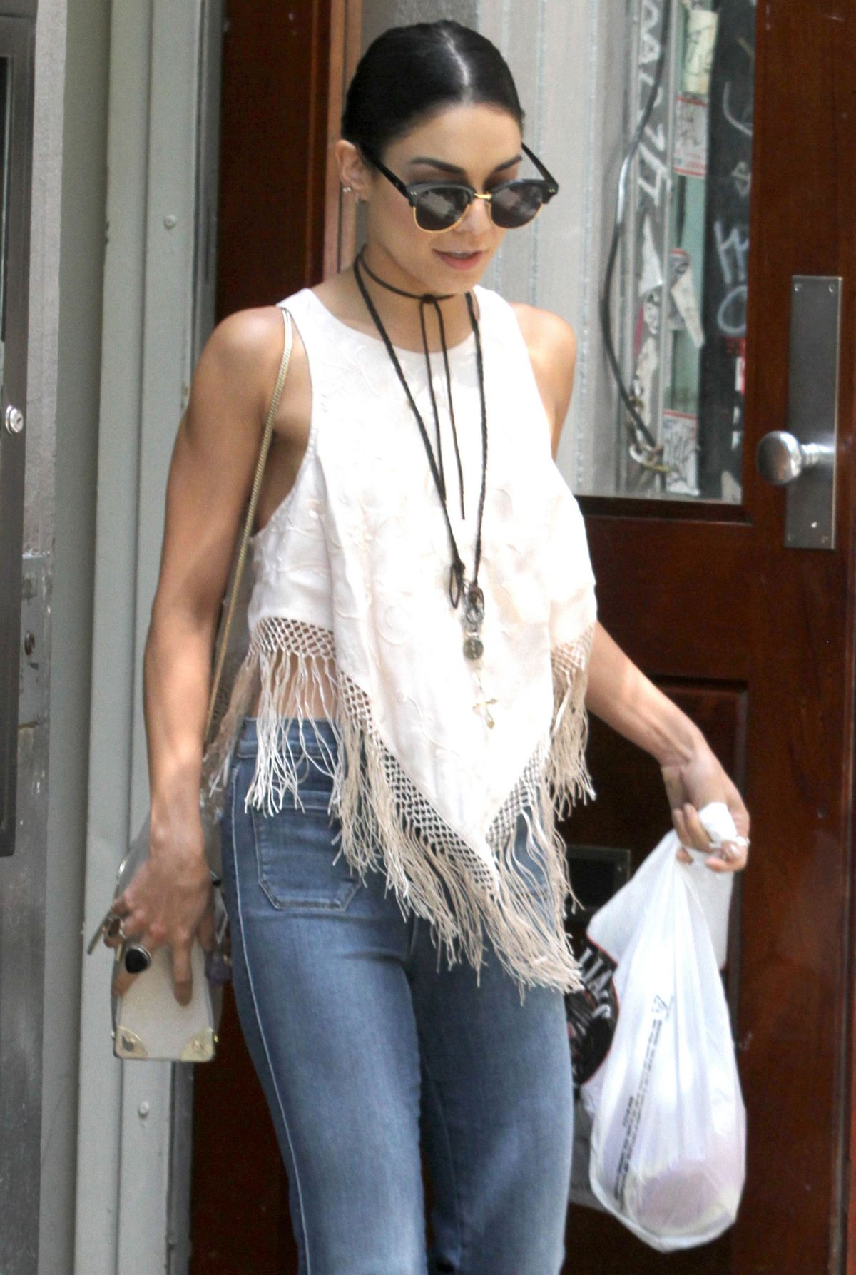 VANESSA HUDGENS Out and About in Soho 06/17/2015