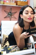 VANESSA HUDGENS Using Buxom Eyeshadow Bar in New York 06/08/2015