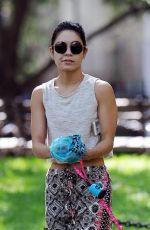 VANESSA HUDGENS Walks Her Dog Out in New York 05/30/2015