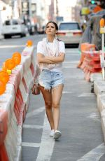 VICTORIA JUSTICE in Cutoffs Out and About in New York 06/17/2015