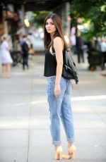 VICTORIA JUSTICE in Ripped Jeans Out and About in New York 06/26/2015