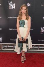 WILLA FITZGERALD at Scream Premiere at LA Film Festival