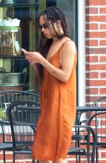 ZOE KRAVITZ Out and About in Atlanta 06/17/2015