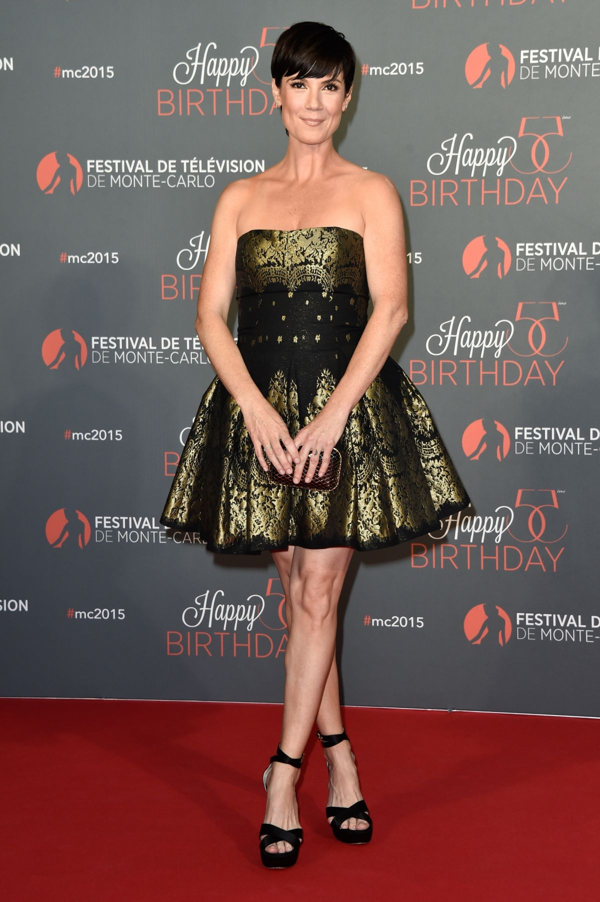 ZOE MCLELLAN at 55th Monte Carlo Beach Anniversary