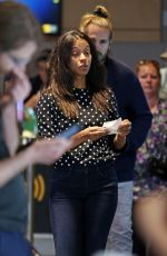 ZOE SALDANA Arrives at a Movie Theatre in Vancouver 06/21/2015