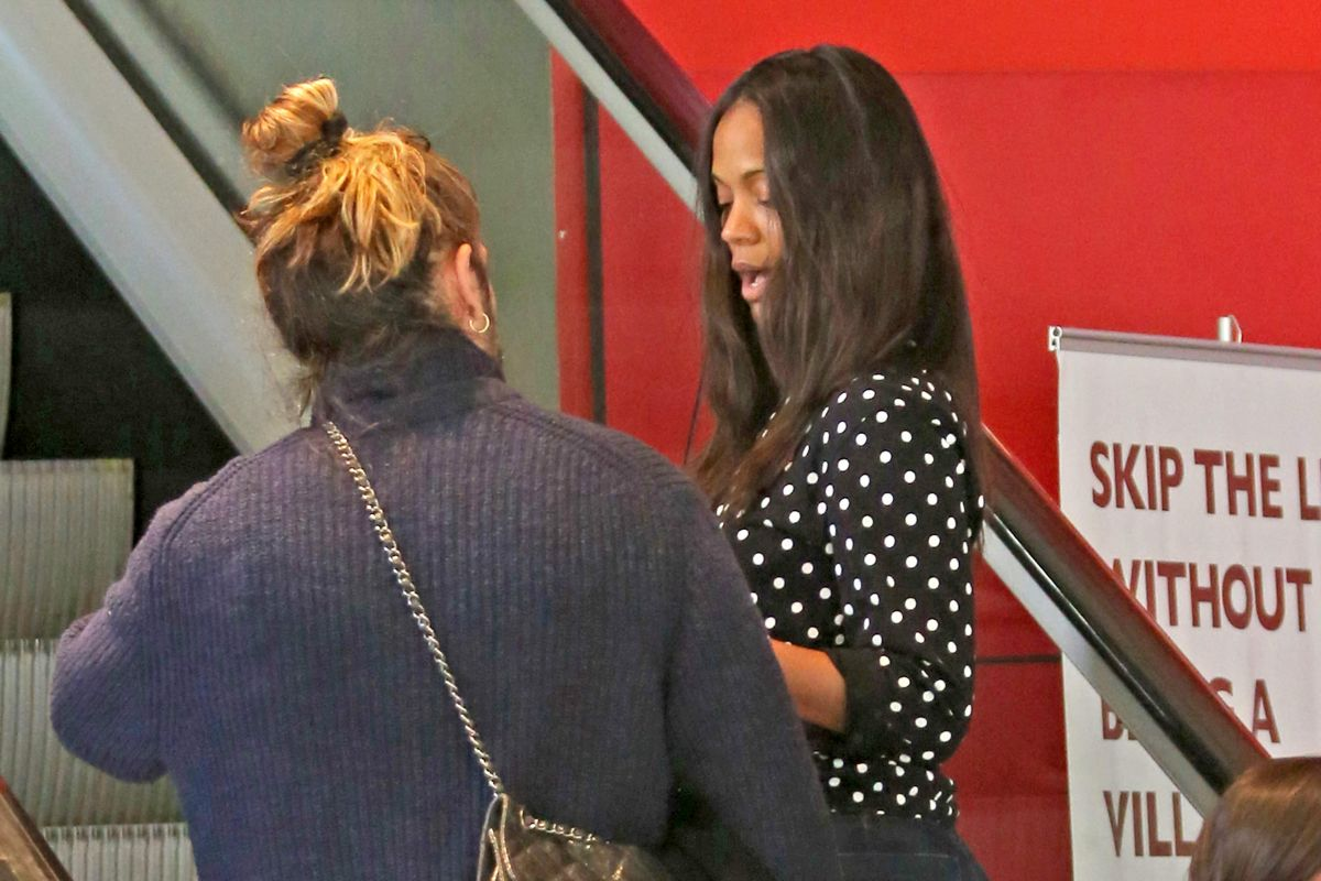ZOE SALDANA Arrives at a Movie Theatre in Vancouver 06/21 ...