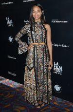 ZOE SALDANA at Infinity Polar Bear Premiere at LA Film Festival