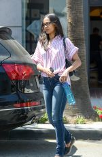 ZOE SALDANA Out and About in Beverly Hills 06/16/2015