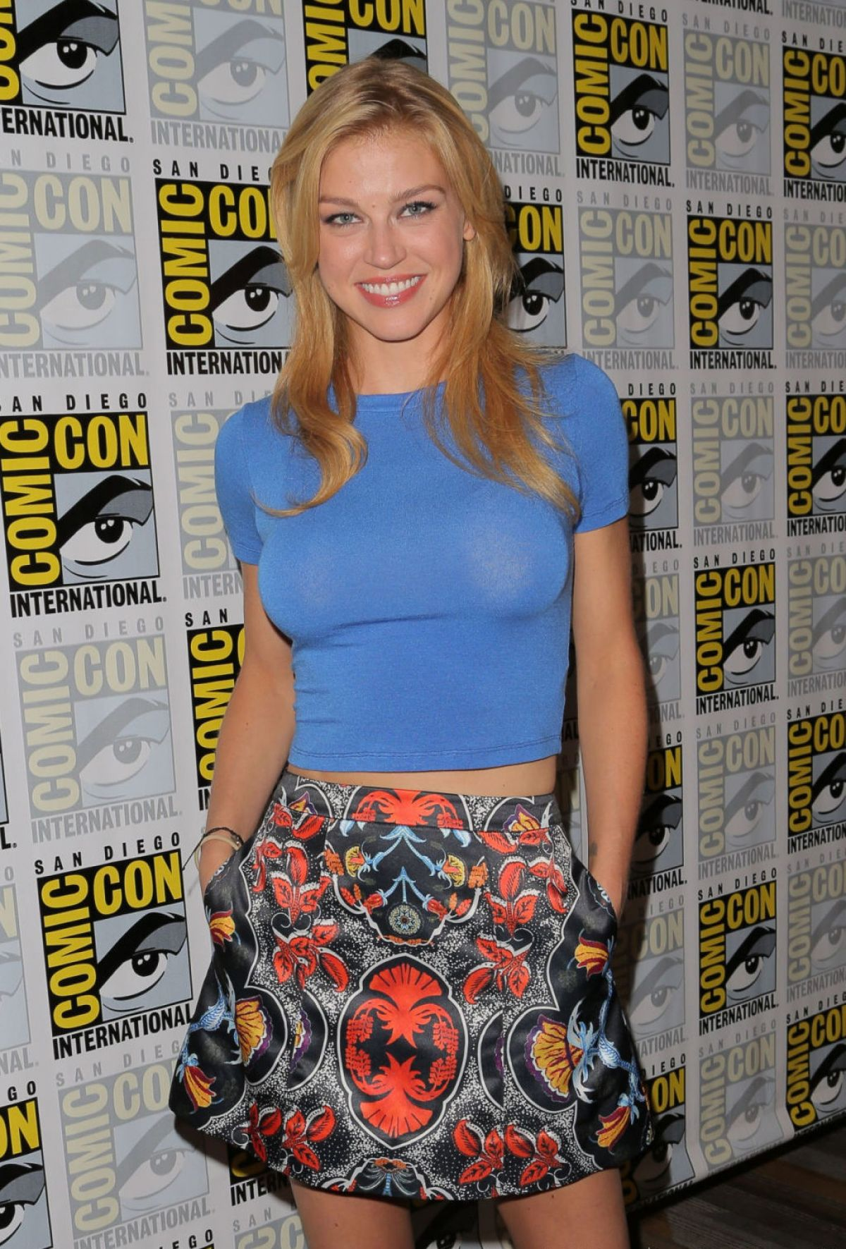 ADRIANNE PALICKI at Agents of S.H.I.E.L.D. Panel at Comic-con in San Diego