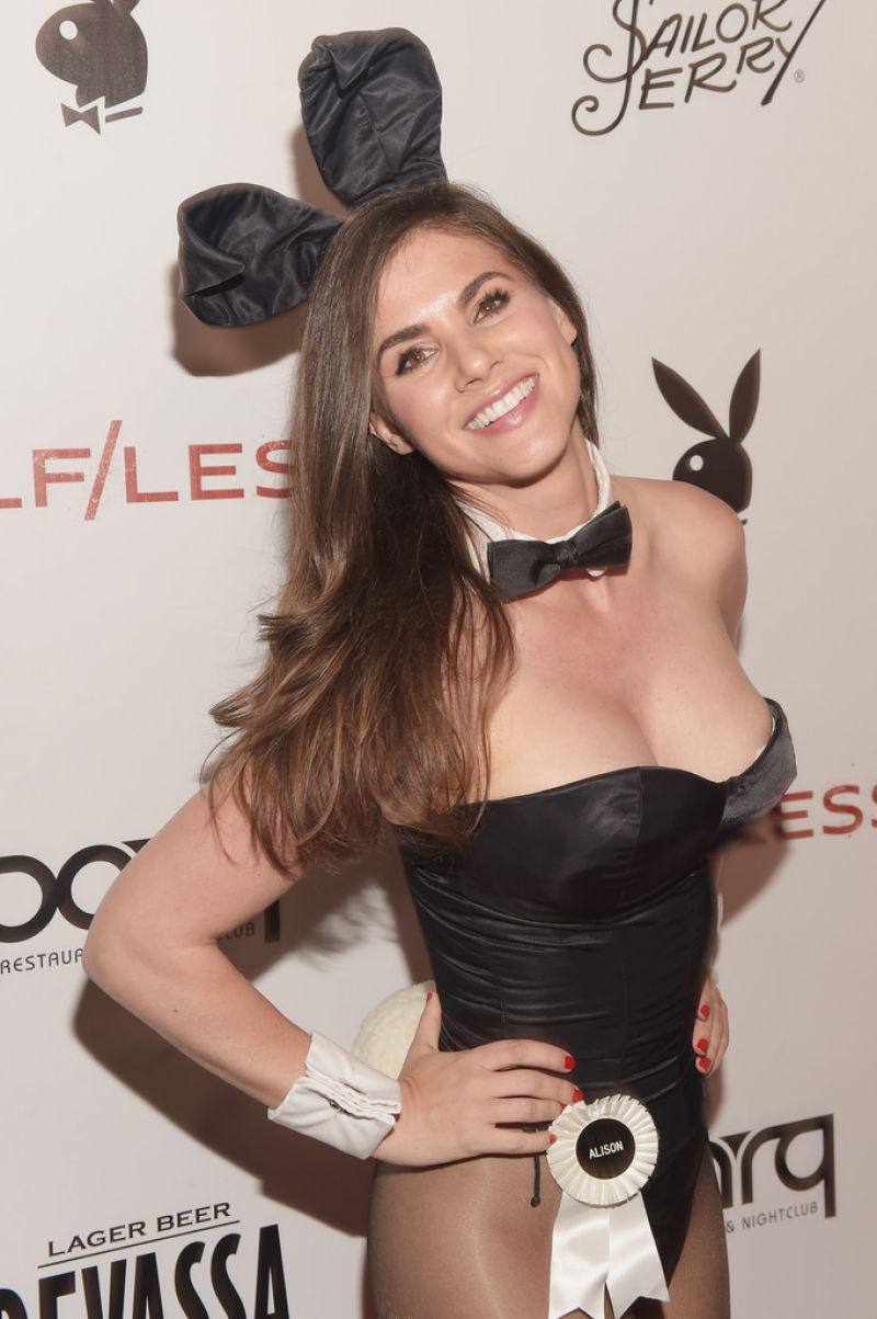 ALISON WAITE at Playboy Self/Less Party at Comic Con in San Diego