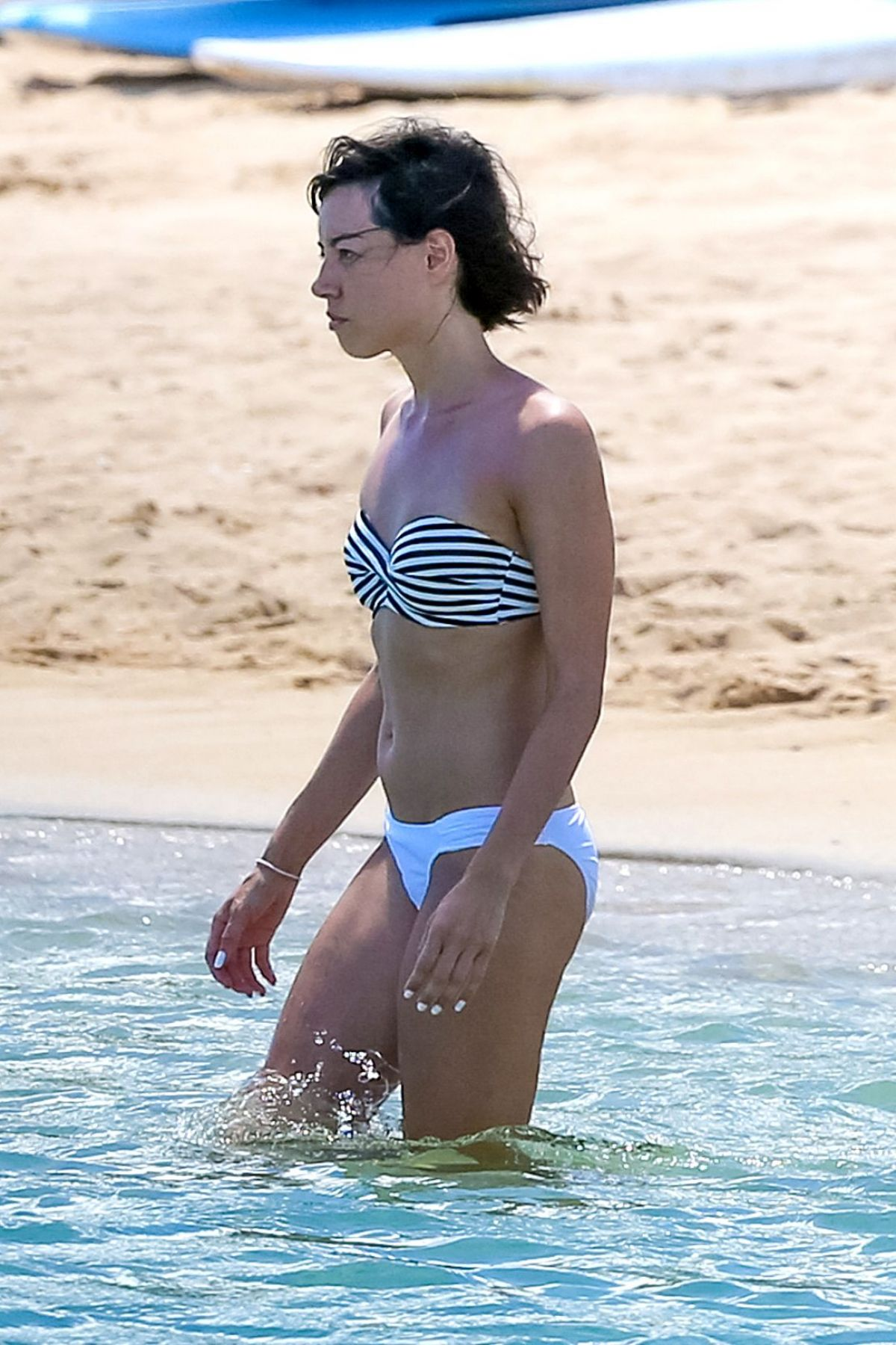 AUBREY PLAZA in Bikini at a Beach in Hawaii 07/20/2015 ...