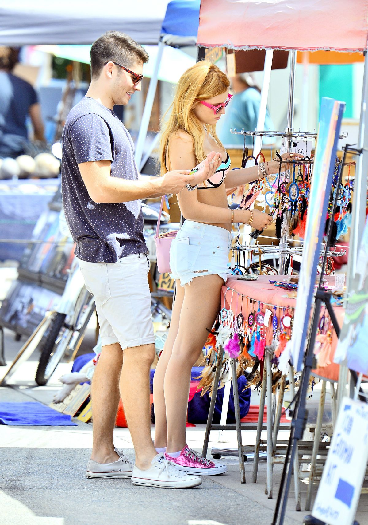 bella thorne in shorts and bikini top out in venice beach 07 26 2015 hawtcelebs hawtcelebs. Black Bedroom Furniture Sets. Home Design Ideas