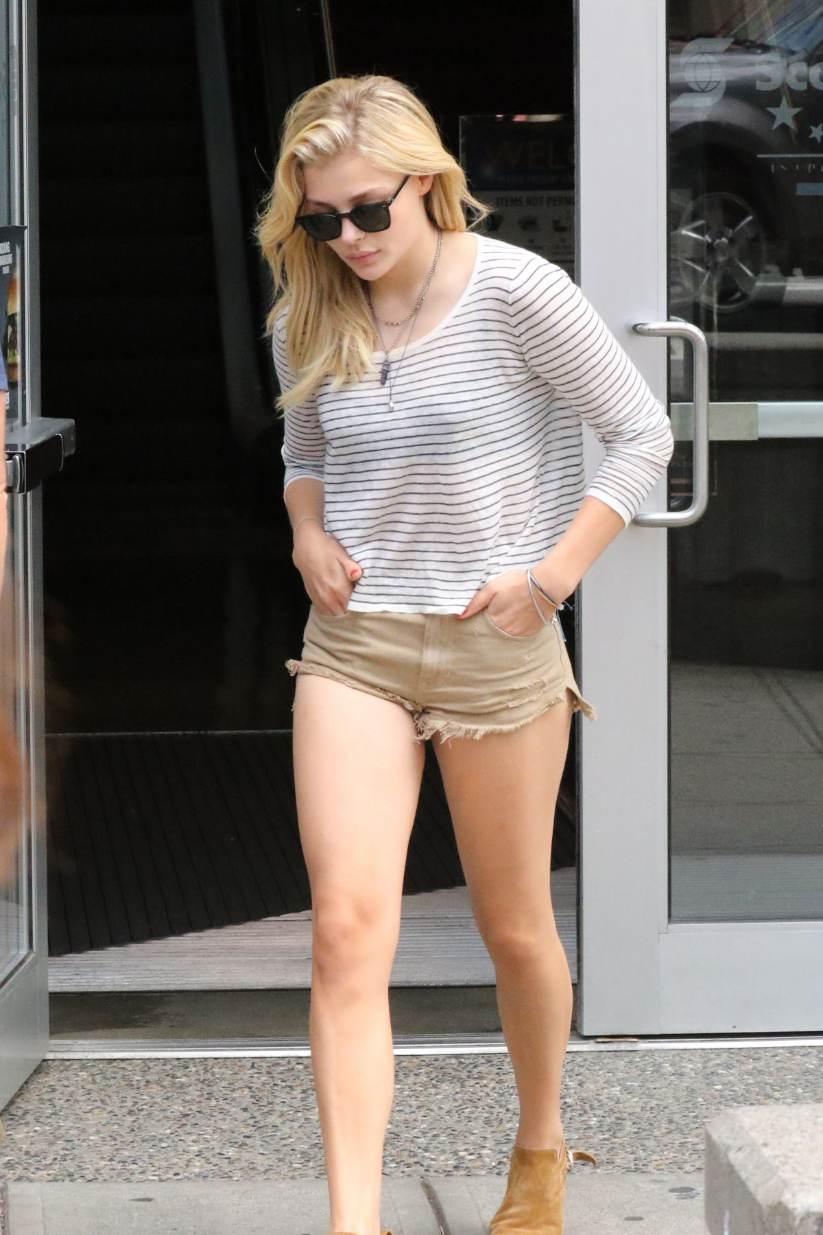chloe moretz in shorts out and about in vancouver 07 25 2015 1